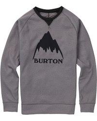 Burton Crown Bonded Crew Top - Gray
