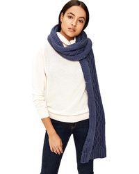 Lolë Chunky Knitwear Scarf - Blue