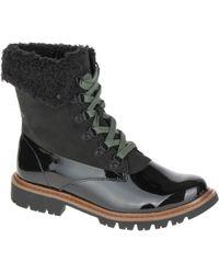 Caterpillar Hub Hiker Fur Boot - Black