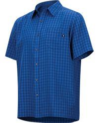 Marmot Eldridge Ss Shirt - Blue
