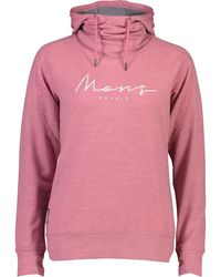 Mons Royale Covert Lite Funnel Hoody - Pink