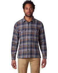 Mountain Hardwear Woolchester Ls Shirt - Blue