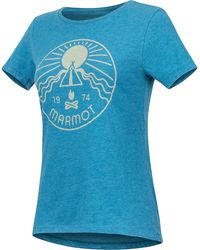 Marmot Prism Ss Tee - Blue