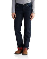 Carhartt Original Fit Blaine Flannel-lined Jean - Blue