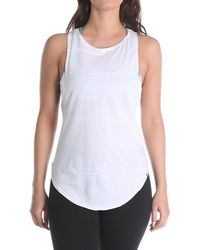 Vimmia Pacific Pintuck Cowl Back Tank Top - White