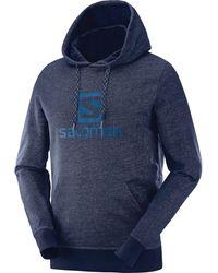 Yves Salomon Logo Hoodie - Blue