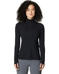 Mountain Hardwear Ghee Ls 1/4 Zip Top - Black