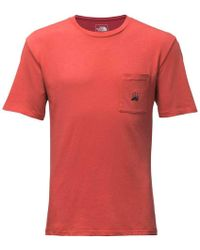 The North Face - Well Loved Pocket Tee - Lyst
