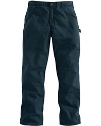 Carhartt Washed-duck Work Dungaree Pant - Blue