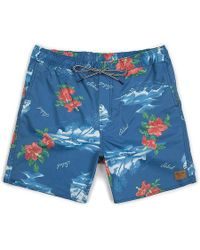 fc82cfabb3 Lyst - Brixton Havana Stripe Swim Trunks in Blue for Men