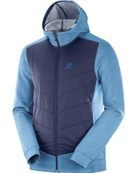 Yves Salomon Pulse Hybrid Hoodie - Blue