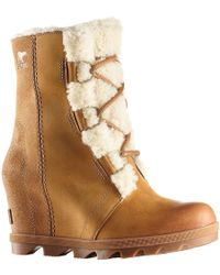 Sorel - Joan Of Arctic Ii Shearling Wedged Boots - Lyst