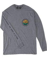 HippyTree South Point Long Sleeve Tee - Gray