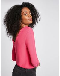 Morgan - Pull manches 3/4 avec dos ouvert - Lyst