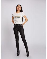 Morgan Pantalon skinny détails zippés - Noir