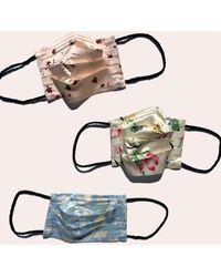 Morgan Lane Glam Silky Face Mask Set In Tea Party - Multicolor