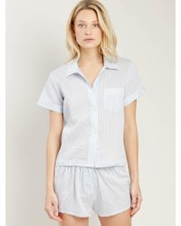 Morgan Lane - Tami Top In Powder Stripe - Lyst