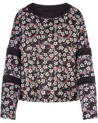 Love Moschino - All-over Flower Technical Sweatshirt - Lyst