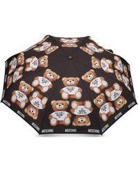 Moschino Regenschirm Mit Aufdruck Teddy Bear - Schwarz