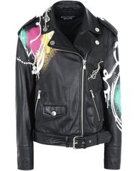 Boutique Moschino - Leather Outerwear - Lyst