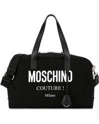 Moschino Boston Bag Aus Nylon Cordura Couture - Schwarz