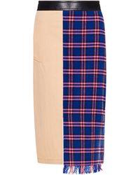 Boutique Moschino Patchwork Midi Skirt - Blue