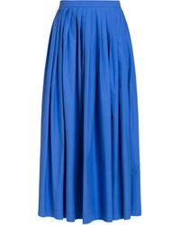 Boutique Moschino Falda Larga De Popelina De Algodón - Azul