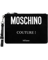 Moschino Men's Briefcase Document Holder Wallet - Black