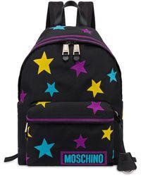 Moschino Sac À Dos En Nylon Stars - Noir