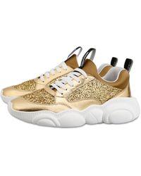 Moschino Sneakers Teddy Shoes Avec Glitter - Métallisé