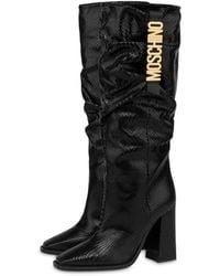 Moschino Belt Goat Boots - Black