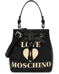 Love Moschino Borsa A Secchiello Padded Heart - Nero