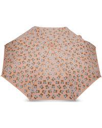 Moschino Paraguas Con Estampado Teddy Bear En Todas Partes - Rosa