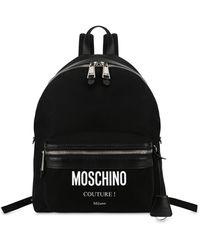 Moschino Sac À Dos En Nylon Cordura Couture - Noir