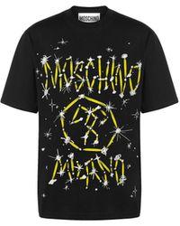 Moschino - T-shirt In Jersey Galaxy Logo - Lyst