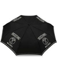 Moschino Parapluie Mini Openclose Stitches - Noir