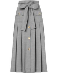 Boutique Moschino Cool Wool Midi Skirt - Grey