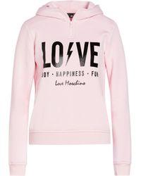 Love Moschino Felpa Con Cappuccio Logo Lightning - Rosa