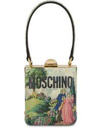 Moschino Mini Borsa A Mano Con Stampa Animé Cross-stitch - Multicolore