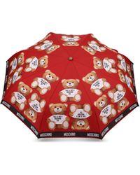 Moschino - Umbrella With Teddy Bear Print - Lyst