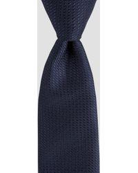 DKNY - Navy Microspot Textured Tie - Lyst