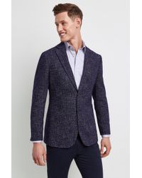 Hardy Amies - Tailored Fit Navy Speckle Jacket - Lyst