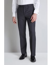 Ted Baker Tailored Fit Grey Pindot Pants - Gray