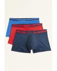 DKNY Tuscon Navy, Red & Blue 3-pack Trunks