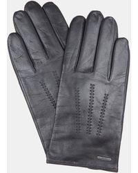 BOSS Black Leather Gloves