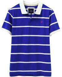 Crew White And Blue Jersey Polo