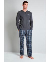BOSS - Hugo By Blue Tartan Trousers Loungerwear Set - Lyst