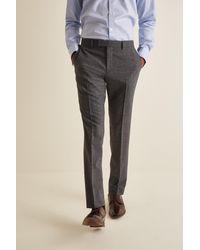 DKNY Slim Fit Gray Texture Pants