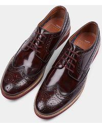 Moss London Foxley Burgundy Eva Sole Derby Shoe - Multicolour
