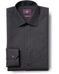 Moss Esq. Regular Fit Black Non Iron Shirt